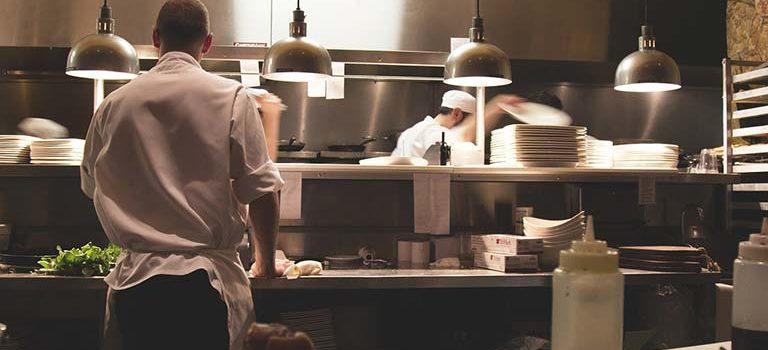 Køkken på en restaurant