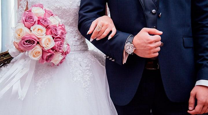 Brudepar der bliver viet